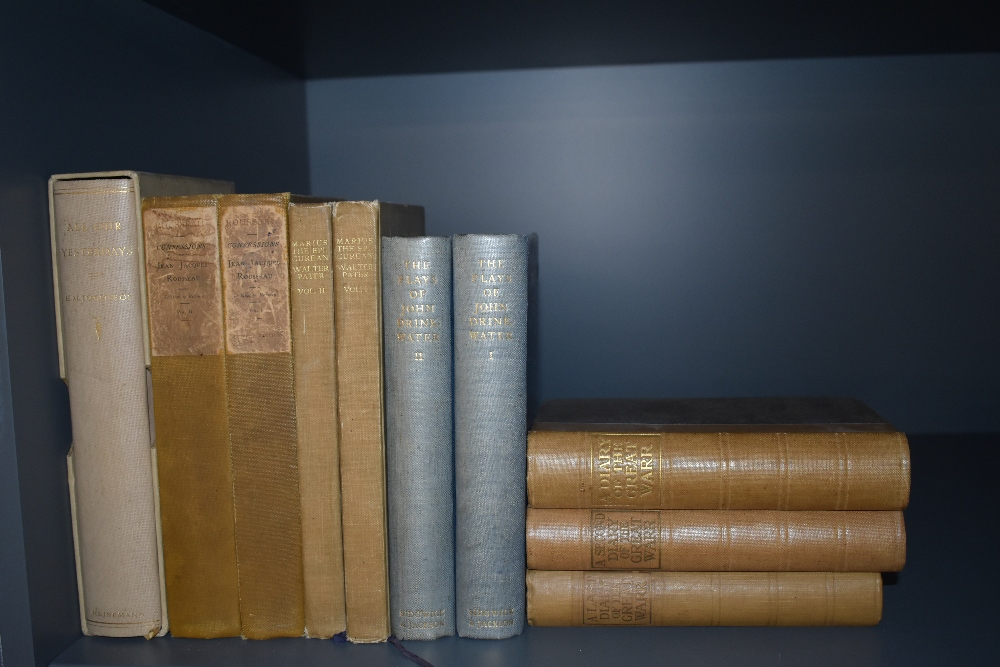 Literature. A selection, includes; Tomlinson, H. M. - All Our Yesterdays, 1930, signed limited