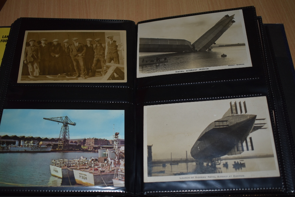 Postcards and Photographs. A selection of albums, predominately postcards. Much Maritime and - Image 6 of 13