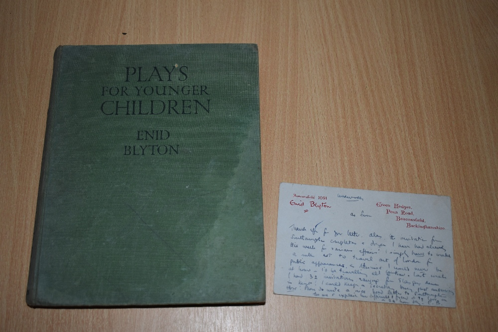 Children's. Enid Blyton - Plays for Younger Children. Loosely tipped-in is an Enid Blyton headed