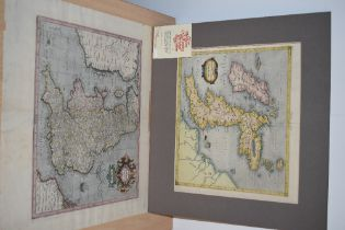 Maps. Antiquarian. British Isles. Titled - Anglia Regnum. Attributed to Gerard Mercator as a late