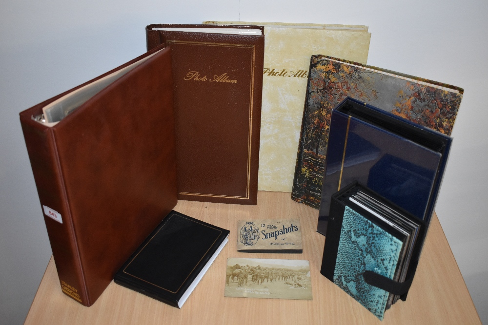 Postcards and Photographs. A selection of albums, predominately postcards. Much Maritime and