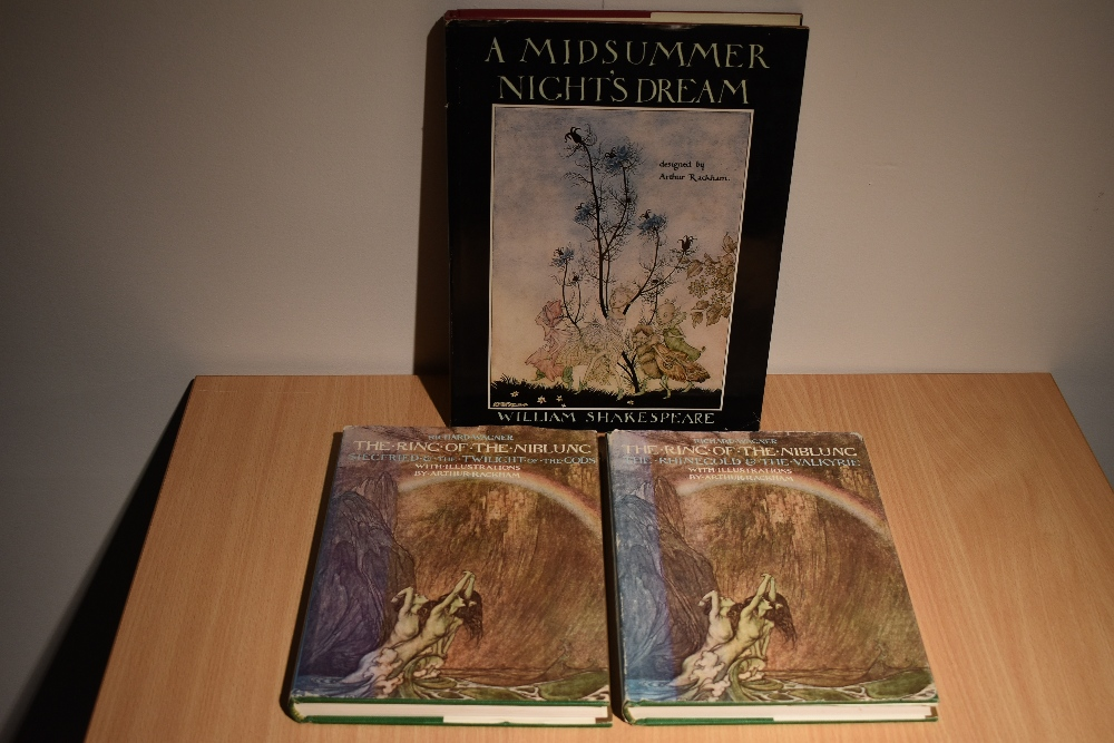 Illustrated. Arthur Rackham. Reprint editions - A Midsummer Nights Dream (1977) and The Ring of