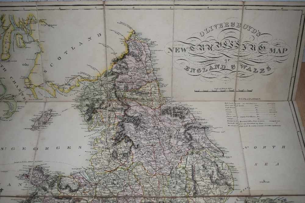 Folding Map. Oliver & Boyd's New Travelling Map of England and Wales. No date, circa 1820's. - Image 4 of 4