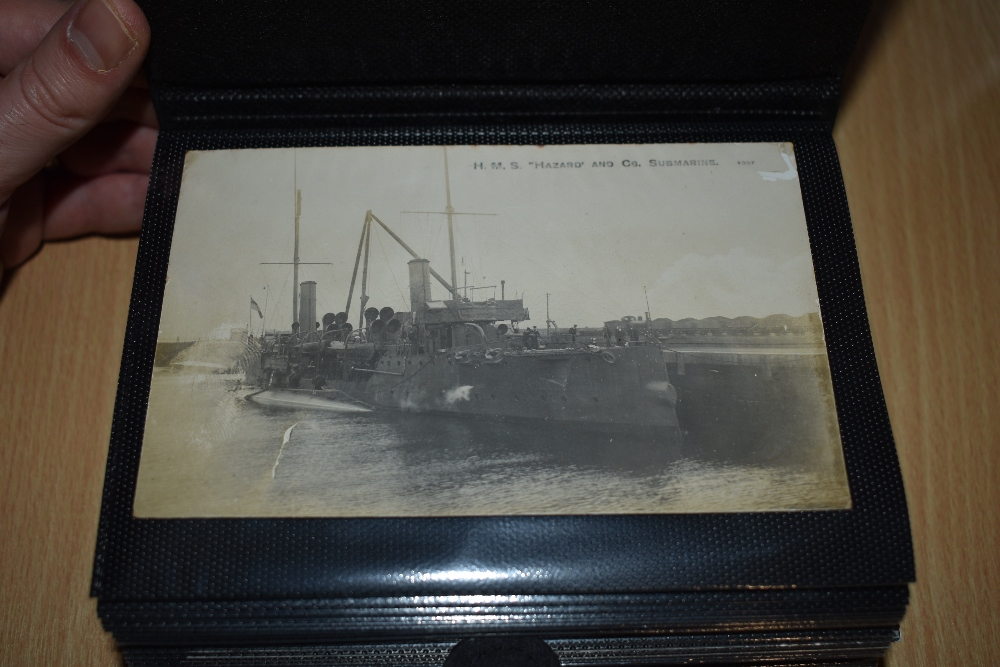 Postcards and Photographs. A selection of albums, predominately postcards. Much Maritime and - Image 2 of 13