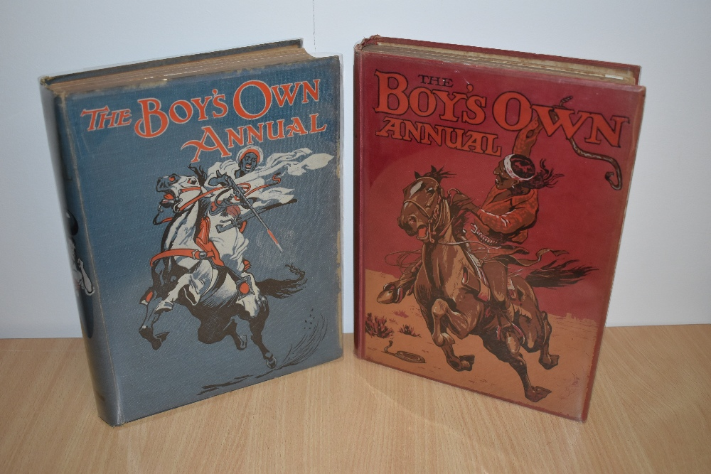 Children's. The Boy's Own Annual. Two editions: 1917 & 1921. Both in original decorative cloth. (2)