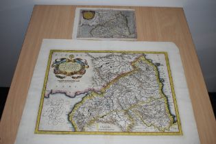 Maps. Antiquarian. Northern Counties. Titled - Northumbria, Cumberlandia, et Dunelmensis
