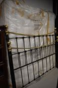 A reproduction Victorian style bed frame, Queen size, includes 180cm mattress