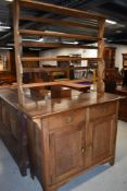 An Arts and Crafts style golden oak open back dresser, approx width 122cm, real quality piece ,