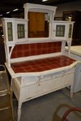 An Arts & Crafts painted dressing table, in the style of Shapland and Petter or similar, having