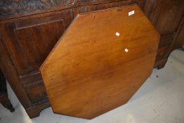 A Victorian mahogany octagonal table top