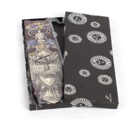 FORNASETTI SILK TIE 80s Silk tie with original box. General Conditions grading A (new with tag)