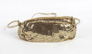 WHITING & DAVIS METAL MESH PURSE 80s A gilded metal mesh evening purse. General Conditions grading