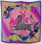 CONTEMPORA ORIGINAL SILK TWILL SCARF 50s / 60s Silk twill scarf reproduction of a Fletcher Martin