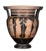 ATTIC RED-FIGURE COLUMN KRATER Attribuited to the Florence Painter, ca. 460 - 450 BC