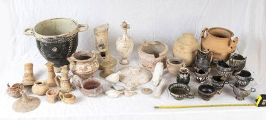 GROUP OF CANOSINE AND APULIAN VESSELS AND FRAGMENTS 4th - 3rd century BC