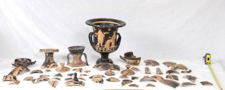 GROUP OF APULIAN AND CAMPANIAN VESSELS AND FRAGMENTS 5th - 4th century BC