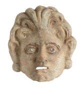 GREEK HELLENISTIC TERRACOTTA THEATRICAL MASK 3rd century BC