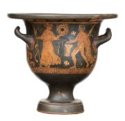 APULIAN RED-FIGURE BELL KRATER Late 4th century BC
