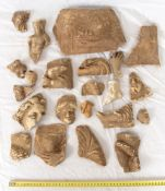 LARGE GROUP OF GREEK TERRACOTTA FRAGMENTS 4th - 2nd century BC