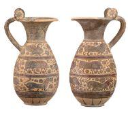 COUPLE OF ETRUSCO-CORINTHIAN OLPAI 580 - 550 BC
