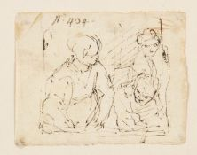 BOLOGNESE SCHOOL, 18th CENTURY - Study of three figures