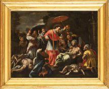 EMILIAN SCHOOL, 17th CENTURY - Miracle of Saint Carlo Borromeo