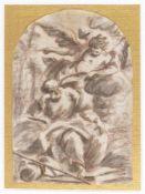 ROMAN SCHOOL, 17th CENTURY - Saint Matthews and the angel