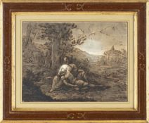 FELICE GIANI (San Sebastiano Curone, 1758 - Rome, 1823) - Rinaldo and Armida in love