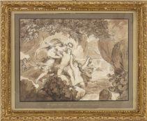 BARTOLOMEO PINELLI (Rome, 1781 - 1835) - Apollo and the Muses