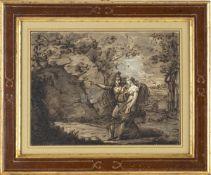 FELICE GIANI (San Sebastiano Curone, 1758 - Rome, 1823) - Rinaldo and Armida in the Garden of deligh