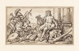AMBIT OF NICOLAS PUSSIN (Les Andelys, 1594 - Rome, 1665) - Allegorical scene with Hercules and war t