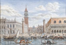 VENETIAN SCHOOL, 18th CENTURY - View of Piazzetta with San Marco in the background