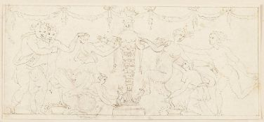 ROMAN SCHOOL, 18th CENTURY - Dionysian scene with homage of gifts to the Euphese Diana