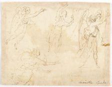 EMILIAN SCHOOL, 17th CENTURY - Study of four angels