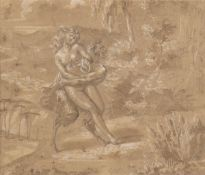 FRENCH SCHOOL, 17th CENTURY - Satyr attacking a Nymph