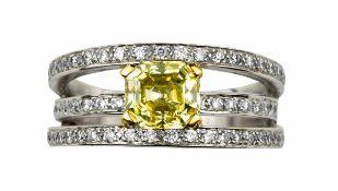 BAGUE DIAMANT GREEN-YELLOW