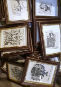 ARTISTOCRATIE EUROPEENE - SUITE DE 69 ARMOIRIESSuite de 69 estampes figurant les armoiries