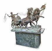 ATTILIO DE LUCA (Naples, ca.1930)Char romain tiré par quatre chevauxExceptionnelle sculptur