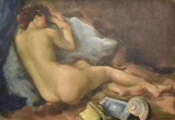 ROGER BERCKMANS (Né en 1900)Nu endormiHuile sur toile signée en bas à droiteDimensions