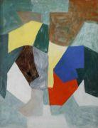 SERGE POLIAKOFF (1900-1969) Composition, 1957 Gouache sur papier, signée en bas à gauche Enregistré aux archives Serge Poliakoff sous le numéro 857055  Peintre français d'origine russe, né à Moscou, il appartient à la nouvelle Ecole de Paris. Inscrit à l'Académie de la Grande Chaumière, ses peintures demeurent académiques jusqu'à la découverte à Londres de l'art abstrait et de la luminosité des couleurs des sarcophages égyptiens. Avec un art se dégageant de toute représentati...