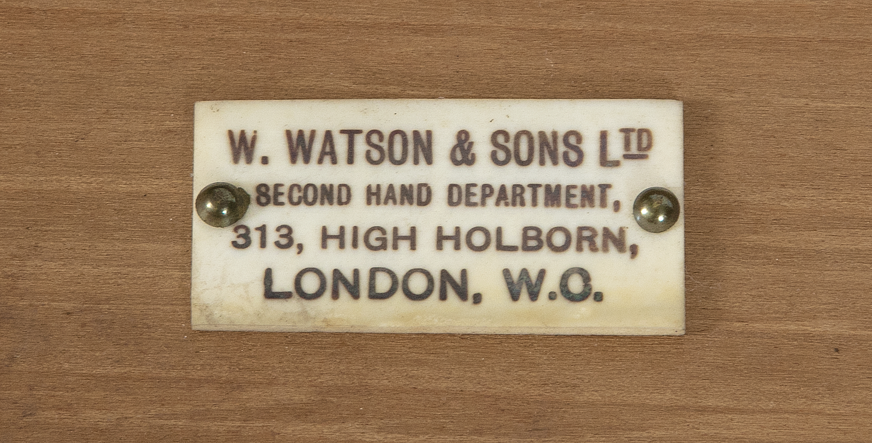 Lot 370 - ***PLEASE NOTE CATALOGUE DESCTIPTION SHOULD READ 'HIGH HOLBORN, LONDON'***A VICTORIAN BRASS CASED