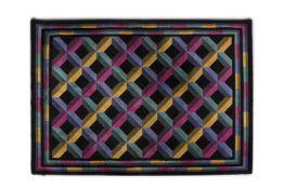 MISSONI A wool rug designed by Missoni produced by T. J. Vestor. c. 1980. 240 x 167 cm
