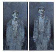 Cian McLoughlin (b.1973) Didi and Gogo Diptych, oil on canvas, 188 x 180cm Signed Provenance: The