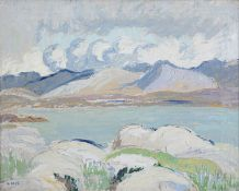 Letitia Marion Hamilton RHA (1878-1964) The Twelve Pins, Roundstone Oil on canvas, 40 x 50cm (15¾