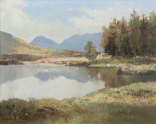 Maurice C. Wilks ARHA RUA (1910-1984) Lough Derryclare, Connemara Oil on canvas, 33 x 43cm (13 x