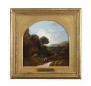 James Arthur O'Connor (1792-1841) Figure in a Mountain River Landscape Oil on canvas, 25 x 24.8cm (