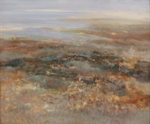 George Campbell RHA (1917-1979) Spanish landscape Oil on board, 50 x 60cm (20x 23½'') Signed