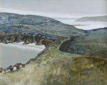 Arthur Armstrong RHA (1924-1996) On Achill Island Oil on board, 60 x 75cm (23½ x 29½'') Signed;