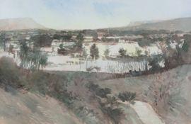 Terence P. Flanagan PRUA RHA (1929-2011) Flooded Land, Kinawley, Co. Fermanagh Watercolour, 44.5 x