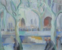 Fr. Jack P. Hanlon (1913-1968) Westport Mall Oil on canvas, 31.2 x 40.6cm (12¼ x 16'') Signed